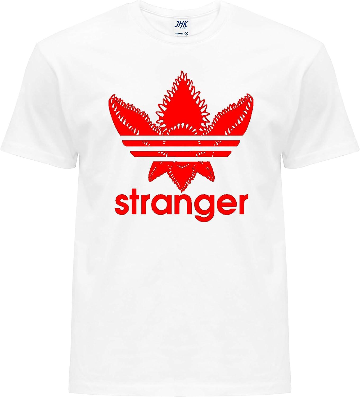 Stranger Things Merchandise Camiseta para ni/ños 100/% algod/ón con logo Pel/ícula de televisi/ón y Netflix Welcome to The Upside Down Stranger-Trefoil