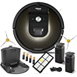 iRobot Roomba 980 Robotic Vacuum Cleaner Bundle - Includes 2 Virtual Walls, Docking Station, Filter, 2 Sidebrushes and Batteries