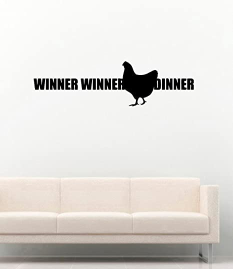 Pubg Vinyl Wall Decals Winner Winner Chicken Dinner Video Game