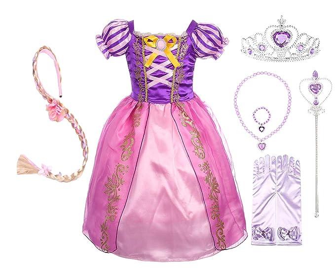 Amazon.com: Dressy Daisy - Disfraz de princesa Rapunzel para ...