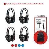 4 Pack of DVD Wireless Headphones, Car Kids