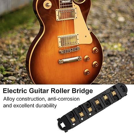 Dilwe - Puente de repuesto para guitarra eléctrica de 6 cuerdas ...