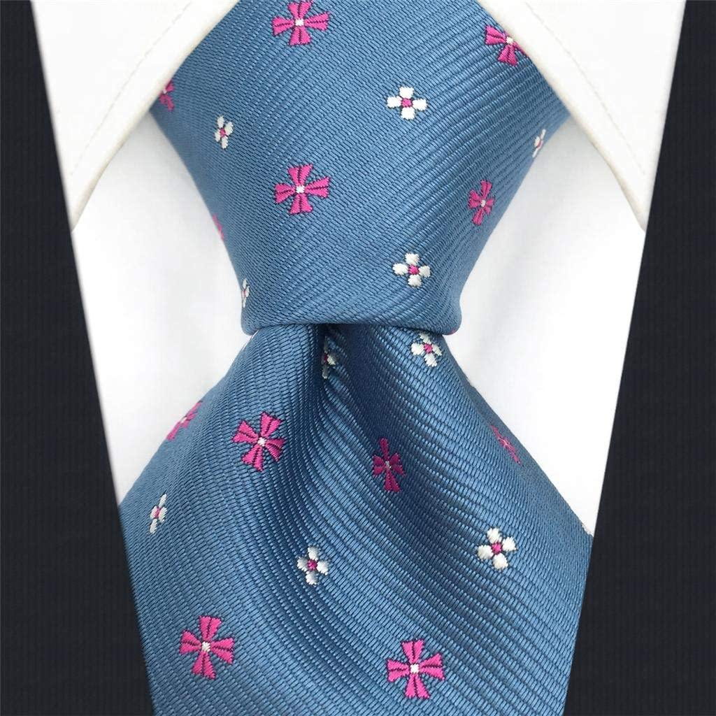 S/&W SHLAX/&WING Designer Herren Krawatte Blau Extra Lang Seide