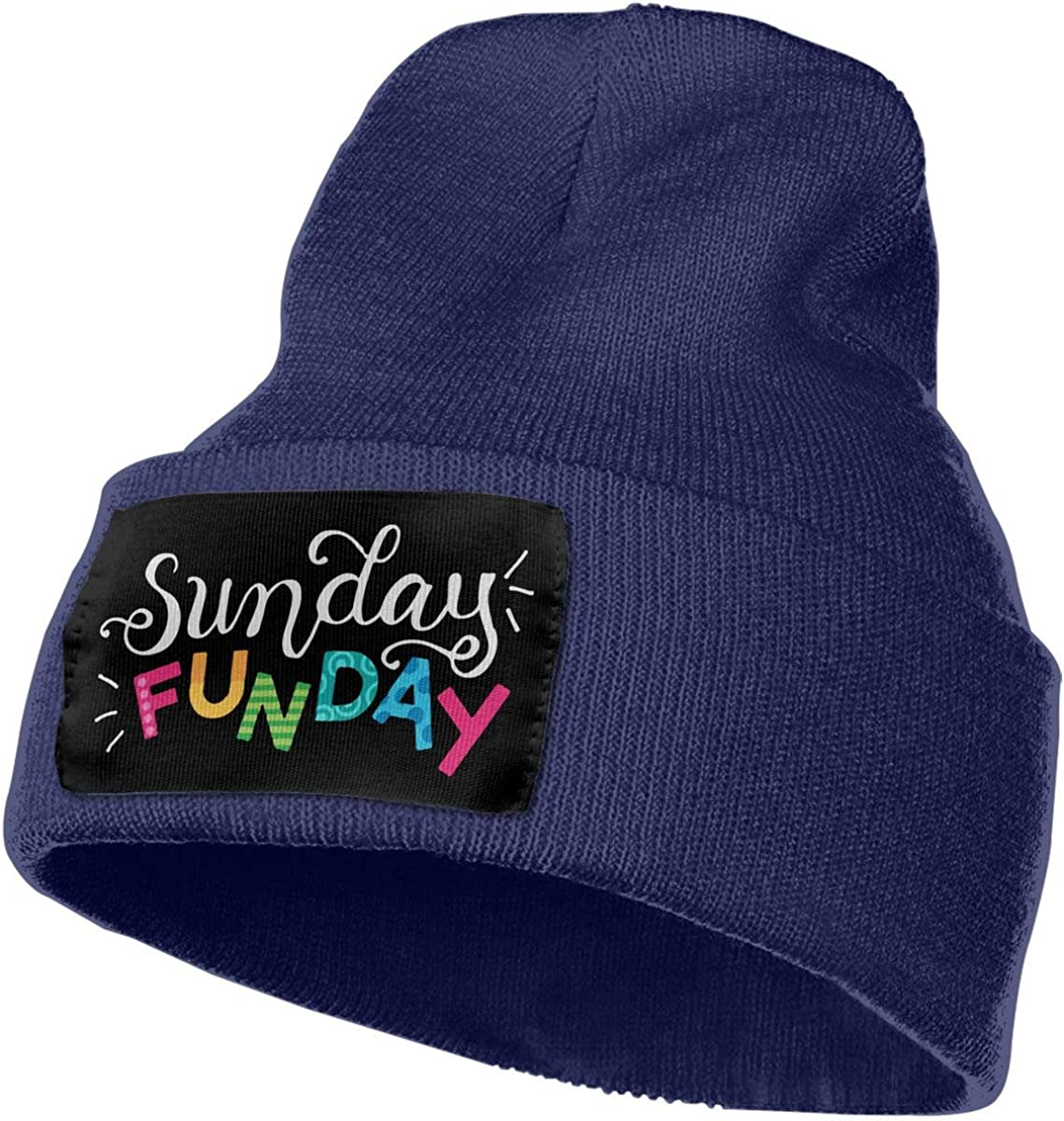Sunday Funday Fashion Skull Cap Ydbve81-G Mens Womens 100/% Acrylic Knitted Hat Cap