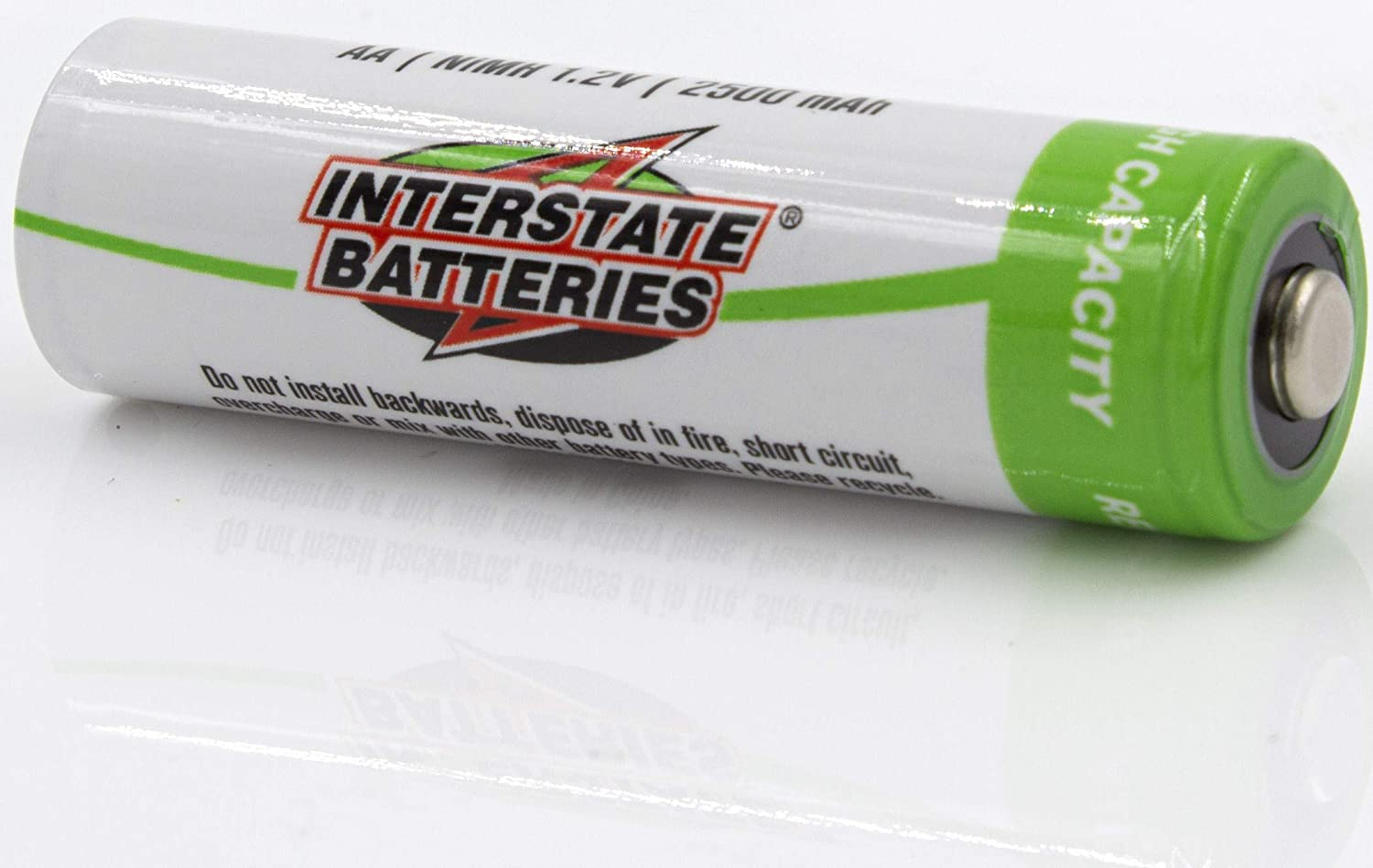 Interstate Batteries AA Rechargeable Batteries NIC1460 4 Pack NIMH AA Battery 1.2V 2.5AH