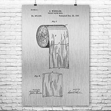 Toilet Paper Roll Poster Print Plumber Gift House Warming Gifts Bathroom Humor