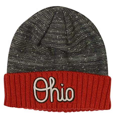 buy online 64ab0 3fa3e Image Unavailable. Image not available for. Color  Top of the World Ohio  State Buckeyes Script Ohio Knit Hat