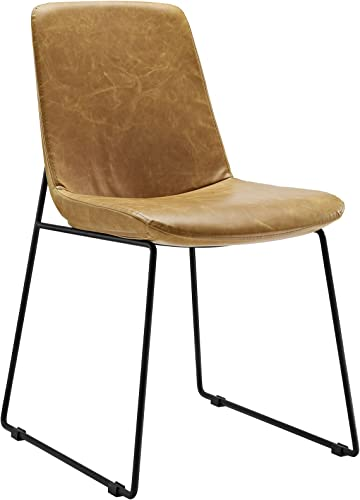 Modway Invite Mid-Century Modern Faux Leather Upholstered Kitchen and Dining Room Chair