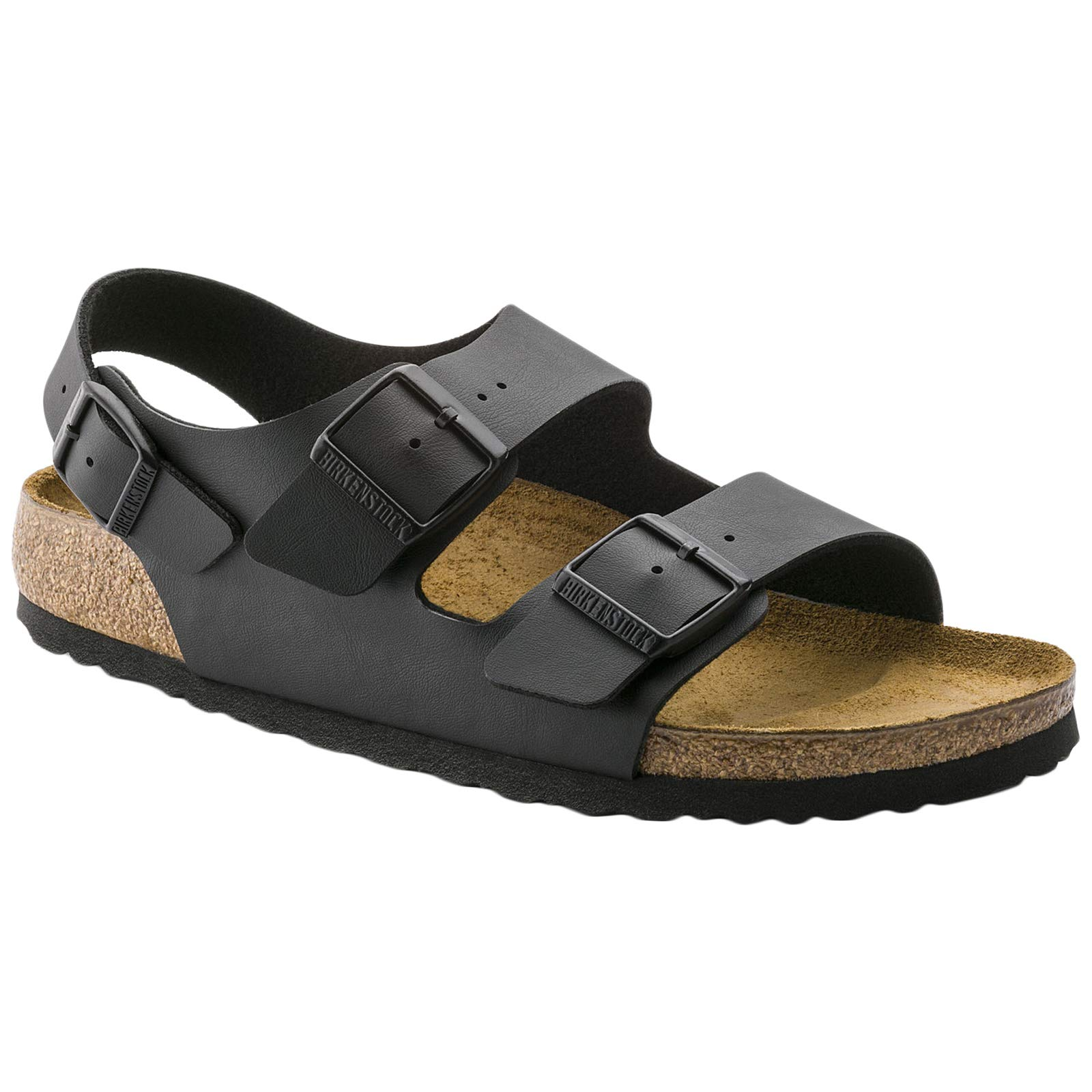 Birkenstock Women´s Milano Black Leather Sandals 39 (étroit) N 034193