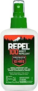 Repel HG-94108 100 Insect Repellent, Pump Spray, 4-Fluid Ounce