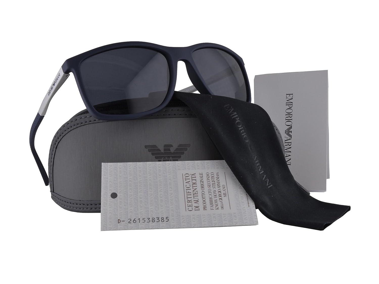 Amazon.com  Emporio Armani EA 4058 Sunglasses Dark Blue Rubber w Gray Lens  5474 87 EA4058 For Men  Clothing 26b7cf40ba