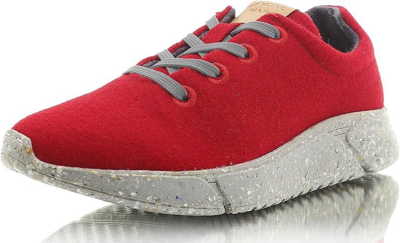 Laerke - Zapatillas de Lana Merino para Mujer - Zapatillas de ...