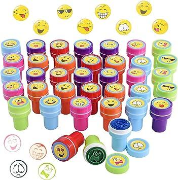 abbastanza Gudotra 36pz Timbri Emoji Bambini attività Creative Gadget QY68