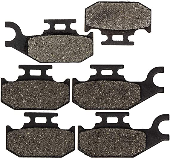 Traxter Autoshift Footshift 2001-2005 Cyleto Semi-Metallic Front and Rear Brake Pad Kit for Can-Am Commander 1000 800 #705600398 705601147 705600350 //Bombardier Traxter XL XT 4x4 2001-2004
