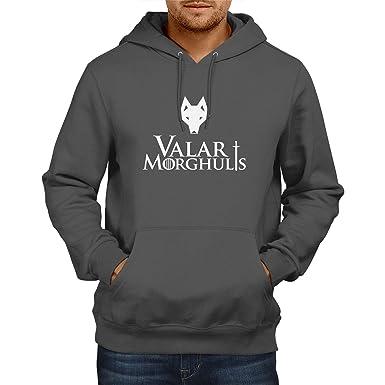 TEXLAB - GoT: Valar Morghulis - Herren Kapuzenpullover, Größe S, grau
