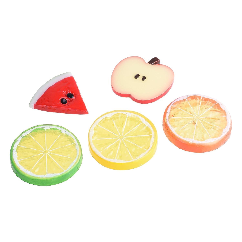 Cosmos 15 PCS Artificial Fake Fruit Slices Lemon Orange Apple Watermelon Artificial Slices Home Party Decoration