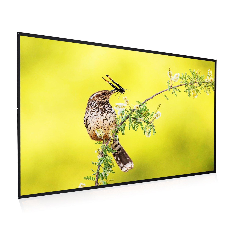 Amazon.com: Owlenz Diagonal Mini Tabletop Portable Projector Screen ...