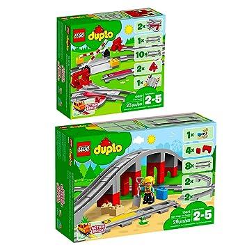 10882 Eisenbahn Schienen 10872 Eisenbahnbrücke LEGO® DUPLO® 2er Set