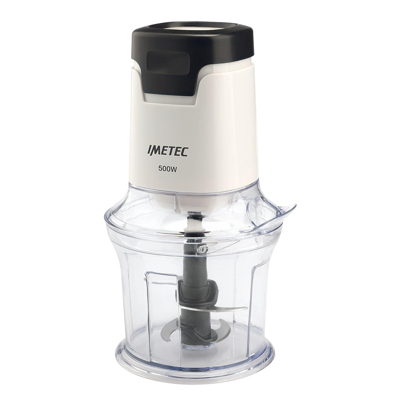 Imetec CH 1000 Tritatutto, 4 Lame in Acciaio Inox, Capiente Contenitore 600 ml, Accessorio Frusta per Salse e Panna Montata, Funzionamento a Pressione, 500 W Tenacta Group 7261