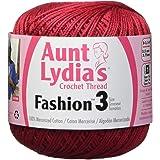 Coats Crochet - 182.0006 Fashion Crochet Thread, 3, Scarlet
