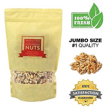 Amazon European Nuts Premium Crunchy Light California Walnuts