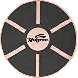 Yogree 15.4 Wooden Balance Board for Workout Fitness Balance Exercise & Rehabilitation Non-Slip & Safe Pad - Agility Core trainer Portable Wobble Board