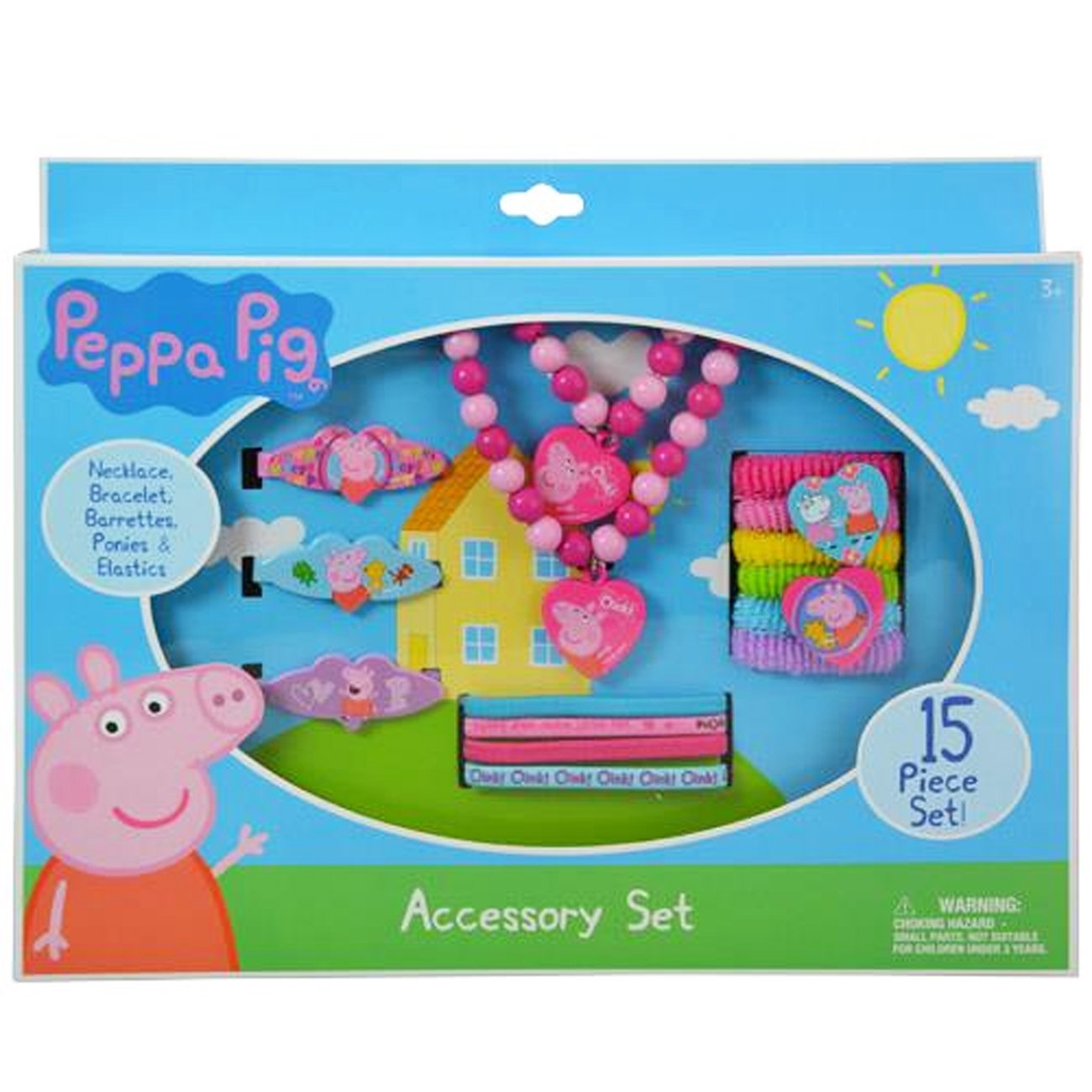 Peppa Pig Necklace Bracelet and Hair Accessory Set 15 Piece PG243