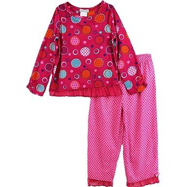Amazon.com: Girls Pink Polka Dot Pajamas K9140544 (XS(4/5)): Clothing