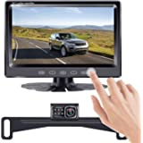 "LeeKooLuu HD Backup Camera 7"" Touch Key Display New Chips Two Video Channels Driving Hitch Rear/Front View Observation…"