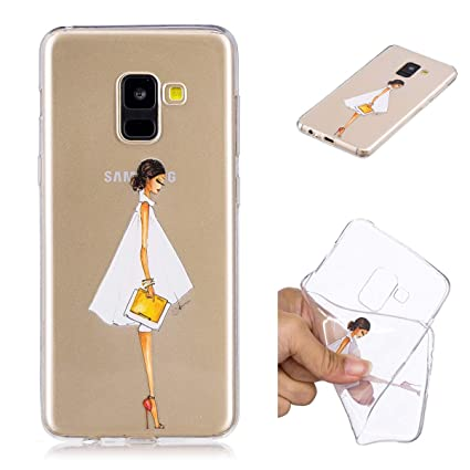 Misteem Coque Galaxy A8 Plus 2018 Cristal Ultra Mince Souple Leger