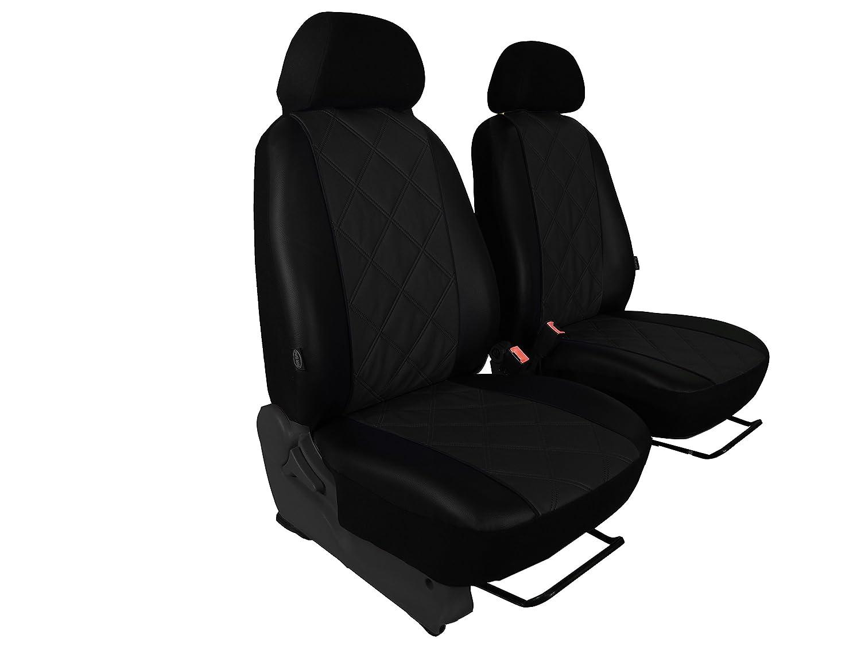 POK-TER-TUNING F/ür T6 Multivan Pa/ßgenaue Vordersitzbez/üge Fahrersitz und Beifahrersitz Comfort Dunkelgrau
