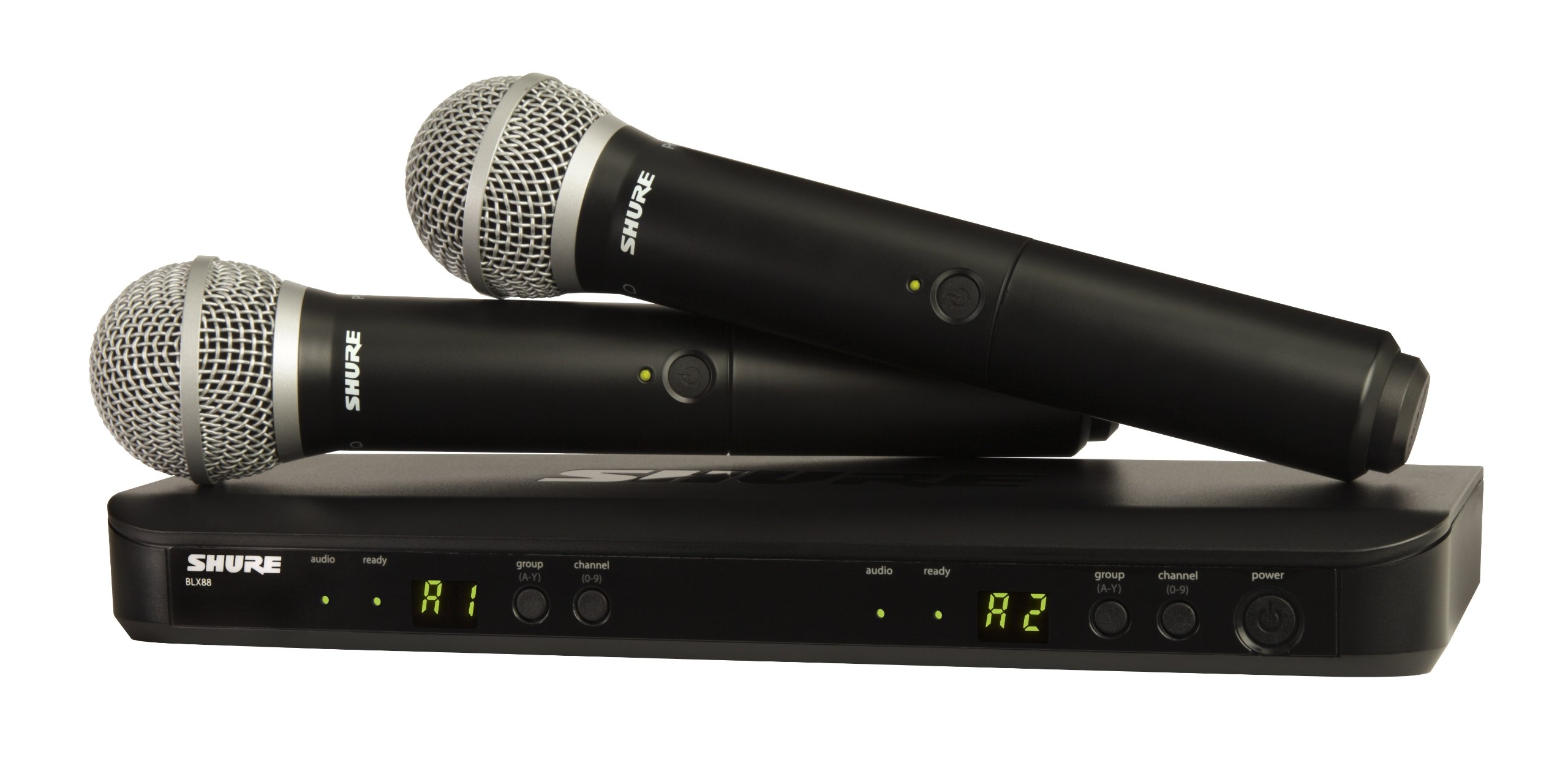 Shure BLX288/PG58 Dual Channel Handheld Wireless System with 2 PG58 Vocal Microphones, J10 by Shure