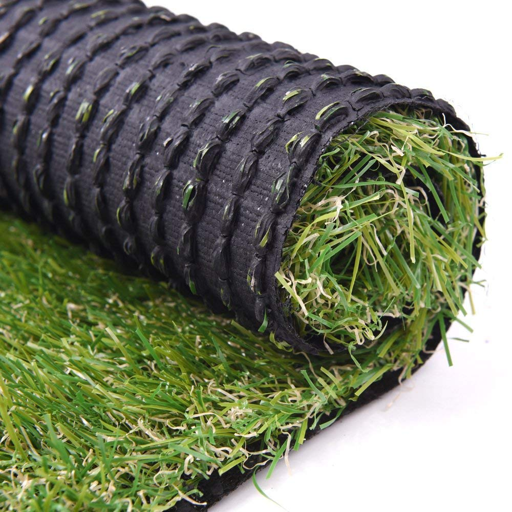 RoundLove 5.5ftx6.5ft Artificial Turf Lawn Fake Grass Indoor Outdoor Landscape Pet Dog Area, 5.5X6.5ft