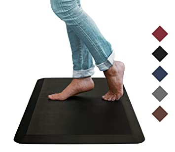 Oasis Kitchen Mats, Leather Grain Comfort Anti Fatigue Mat & Kitchen Rug, 5  Colors and 3 Sizes, Perfect for Kitchens and Standing Desks, ...