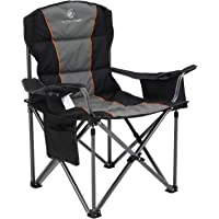 ALPHA CAMP Oversized Camping Folding Chair Heavy Duty Support 450 LBS Oversized Steel Frame Collapsible Padded Arm Chair…