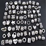 CITY 40 x Perlescharmes en argent tibétain compatibles bijoux bracelet Pandora
