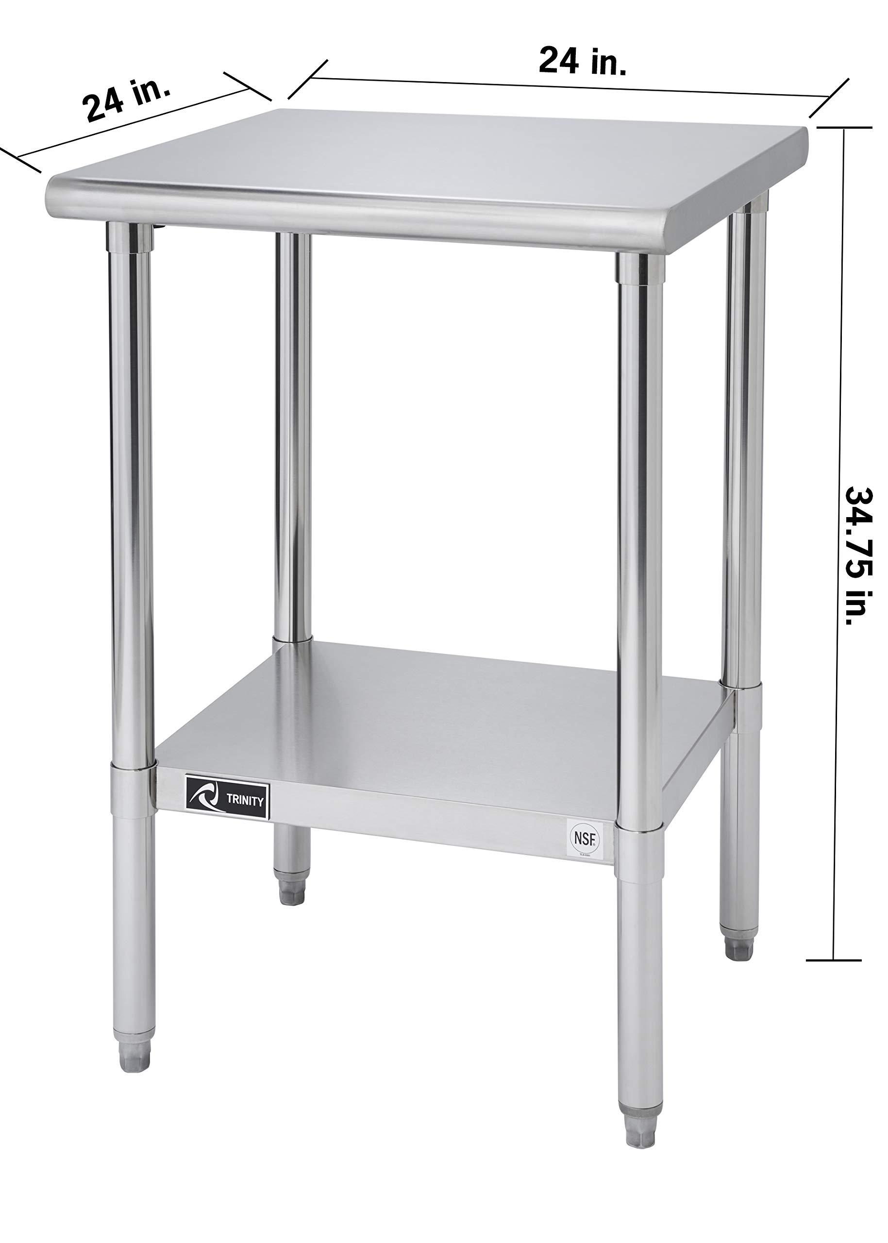 TRINITY EcoStorage NSF Stainless Steel Table, 24-Inch by Trinity (Image #10)