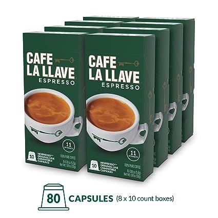 Café La Llave - Cápsulas de café espresso, Intensidad 11 (80 ...