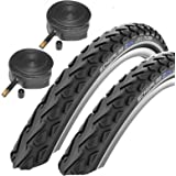 """Schwalbe Land Cruiser 26"""" x 2.0 Mountain Bike Tyres with Schrader Tubes (Pair)"""