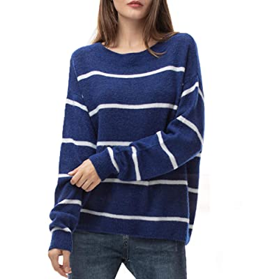 Woolen Bloom Women's Oversized Loose Sweater Crew Neck Pullover Lightweight Long Sleeve Tops for Women Fall Winter at Women's Clothing store
