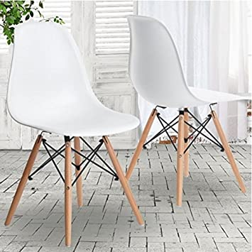 PN Homewares DSW Eiffel Design Dining Eames Style Chair Set of 4