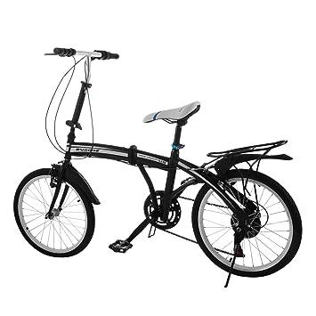 OrangeA Bicicleta Plegable 6 Velocidad 20 Pulgadas Foldable Bike Marco de Acero Car Bike Shimano Aluminio