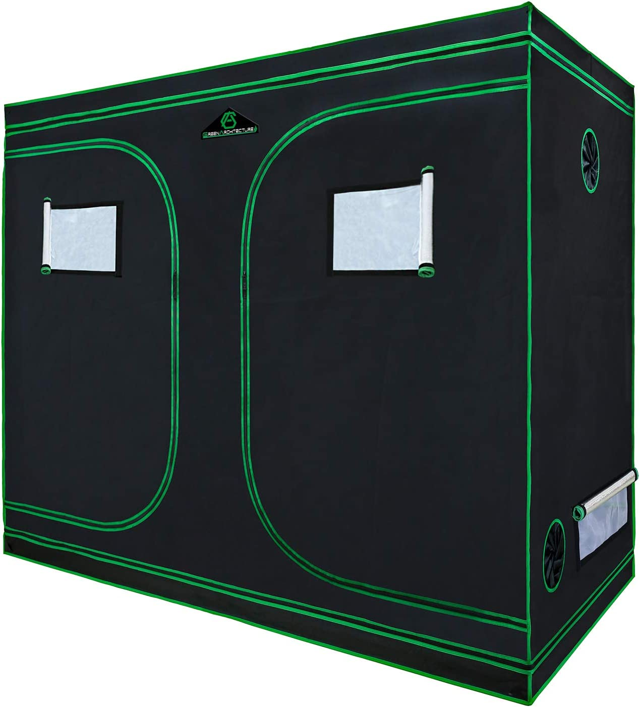 GA Grow Tent,94x48x80 Reflective Mylar Hydroponic Grow Tent with Observation Window and Waterproof Floor Tray for Indoor Plant Growing.4×8 for 8 Plants
