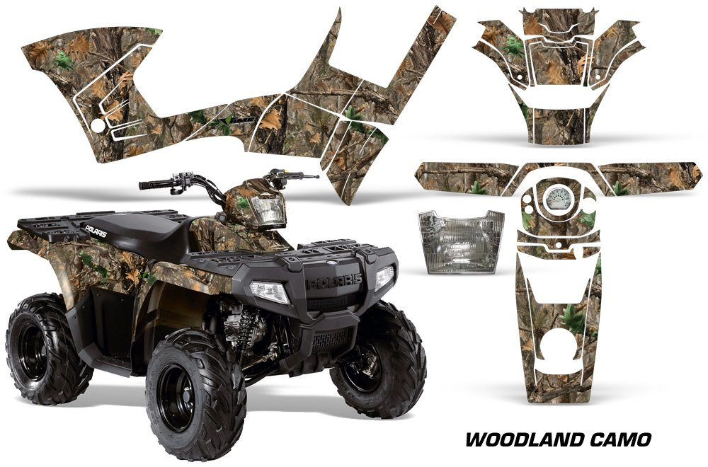 AMR Racing Graphics Kit for ATV Polaris Sportsman 90/110 2007-2016 WOODLAND CAMO