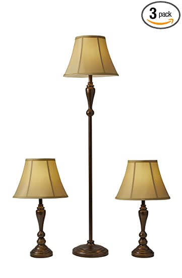 Adesso 1587 26 Classic Lamp Set Containing Matching Floor Lamp And