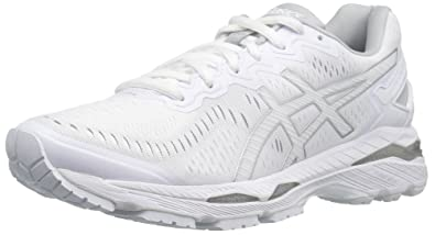 best sneakers d313f 8237a ASICS Women's Gel-Kayano 23 Running Shoe, White/Snow/Silver ...