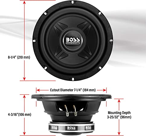 Boss Audio Cxx8 Chaos Exxtrem Subwoofer 600 Watt 8 Inch Auto