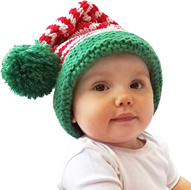 BABY GIRLS FIRST CHRISTMAS HAT Pink Santa/'s Cap Winter Holiday Infant Stripe NEW