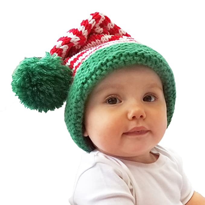 Crochet Christmas Hats Adults.Huggalugs Baby Toddler Adult Stripe Santa Hat In 3 Color Choices