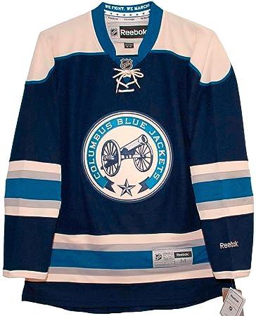 Amazon.com : Columbus Blue Jackets Reebok Premier Third Jersey ...